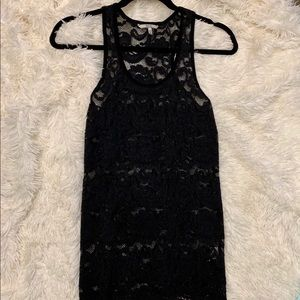 Black Lace Tank with a bit of Shimmer Sz S